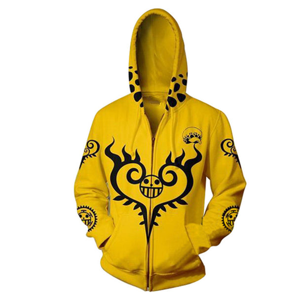 One Piece Trafalgar Law Zip Up Hoodie MZH308 - icoshero