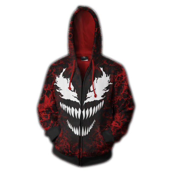 Spider Man Venom vs. Carnage Zip Up Hoodie MZH502 - icoshero