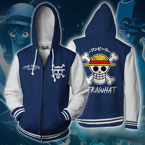 One Piece Monkey D. Luffy Zip Up Hoodie MZH512 - icoshero