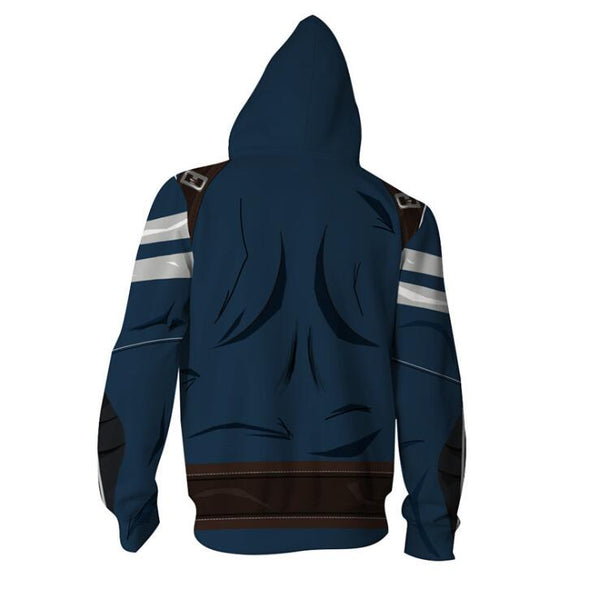 The Avengers Captain America Zip Up Hoodie MZH550 - icoshero