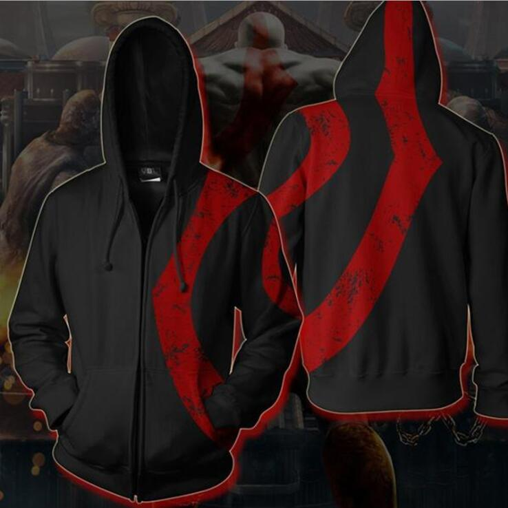 God of War Kratos Zip Up Hoodie MZH551 - icoshero