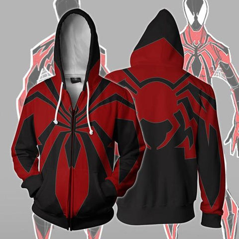 Spider Man Zip Up Hoodie MZH565 - icoshero