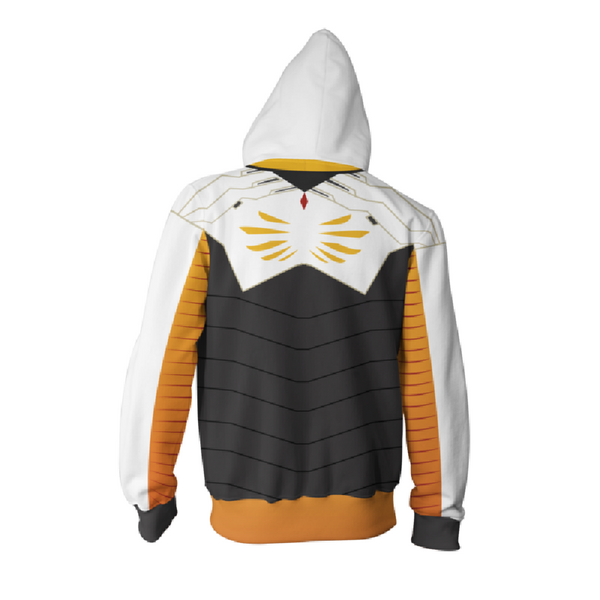 Overwatch Mercy Zip Up Hoodie MZH569 - icoshero