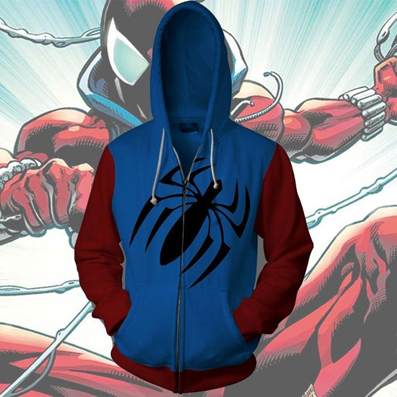 The Avengers Scarlet Spider Man Zip Up Hoodie MZH570 - icoshero