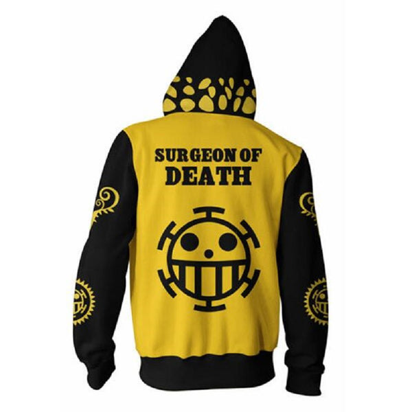 One Piece Trafalgar Law Zip Up Hoodie MZH590 - icoshero