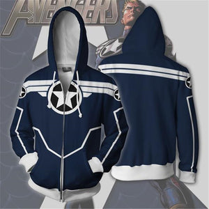 Avengers Captain America Secret  War Zip Up Hoodie MZH630 - icoshero