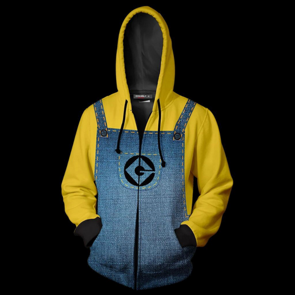 Despicable Me Hoodie - Minions Zip Up Hoodie MZH827 - icoshero