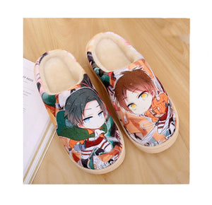 Anime Collections Print Fleece Room Slippers——Attack on Titan - icoshero
