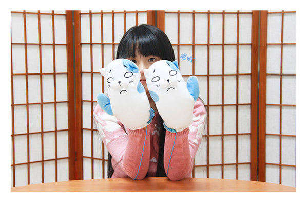 Himouto!Umaru Chan Thicken Plush Lined Cuffed Winter Knit Mittens - icoshero