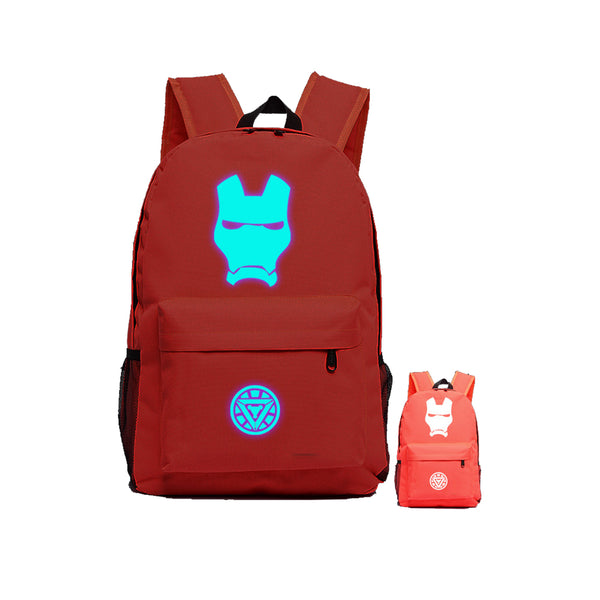 "Avengers Ironman Marvel 17"" Luminous Backpack - icoshero"