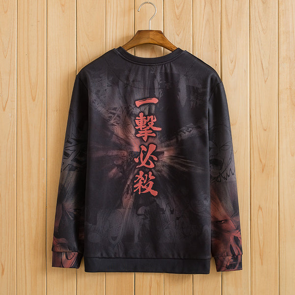One Punch Man Red Camouflage Fleece Sweatshirt - icoshero
