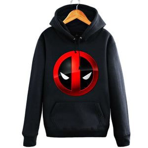 Men's Marvel Deadpool Wade Wilson Pullover Kangaroo Pocket Hoodie - icoshero