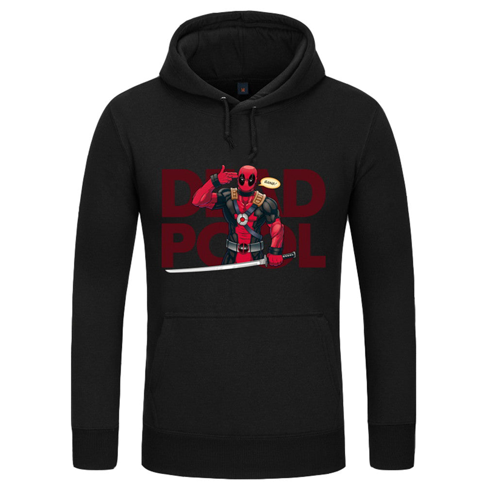 Men's Marvel Antihero Deadpool Kangaroo Pocket Fleece Hoodie - icoshero