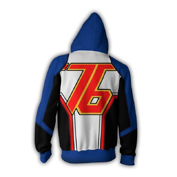 Overwatch Soldier 76 Zip Up Hoodie MZH567 - icoshero