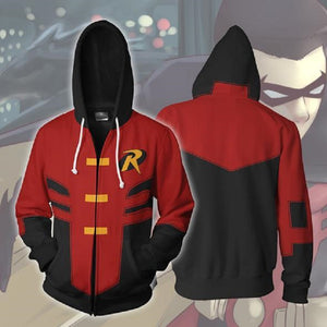 Batman Robin Tim Drake Zip Up Hoodie MZH616 - icoshero