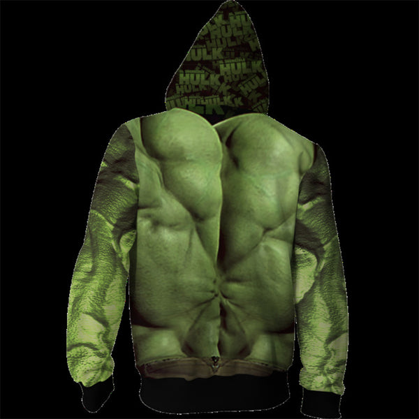 The Avengers Endgame Hulk Zip Up Hoodie MZH804 - icoshero