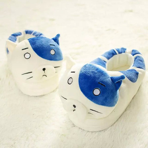 Himouto! Umaru-chan Kitten Cat Face Fleece Slipper - icoshero