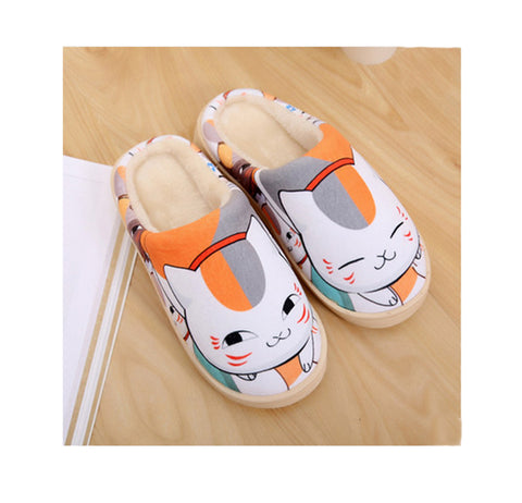 Anime Collections Print Fleece Room Slippers——Natsume's Book of Friends - icoshero