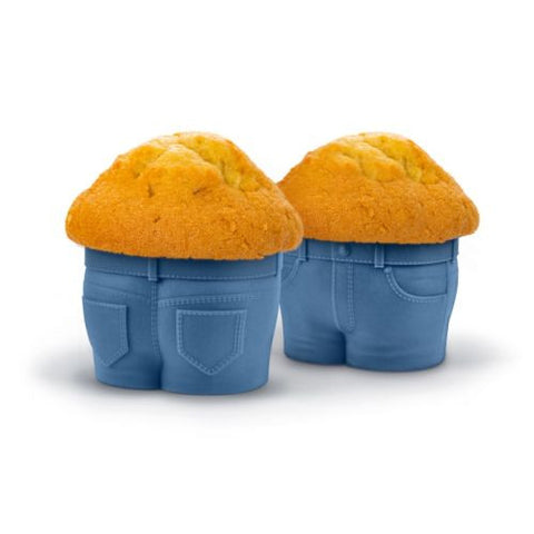 Muffin forme jeans - 4 stk