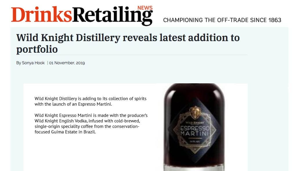 Wild Knight Distillery reveals latest addition to portfolio