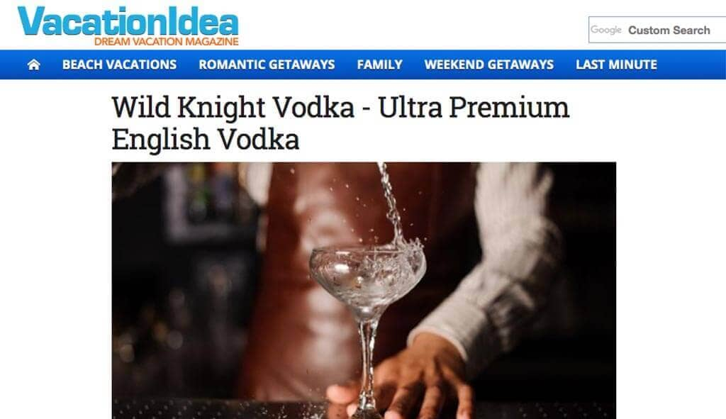 Wild Knight Vodka - Ultra Premium English Vodka