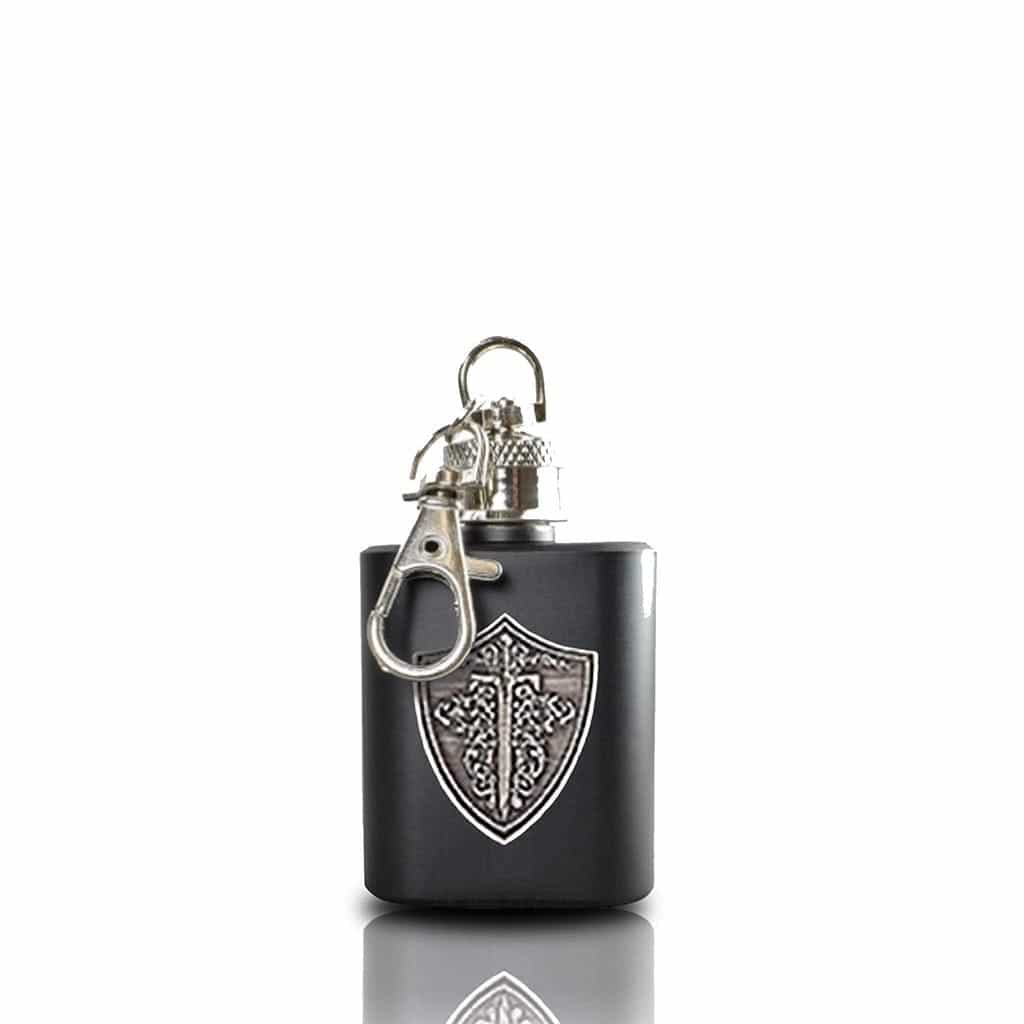 Wild Knight® vodka key ring hip flask