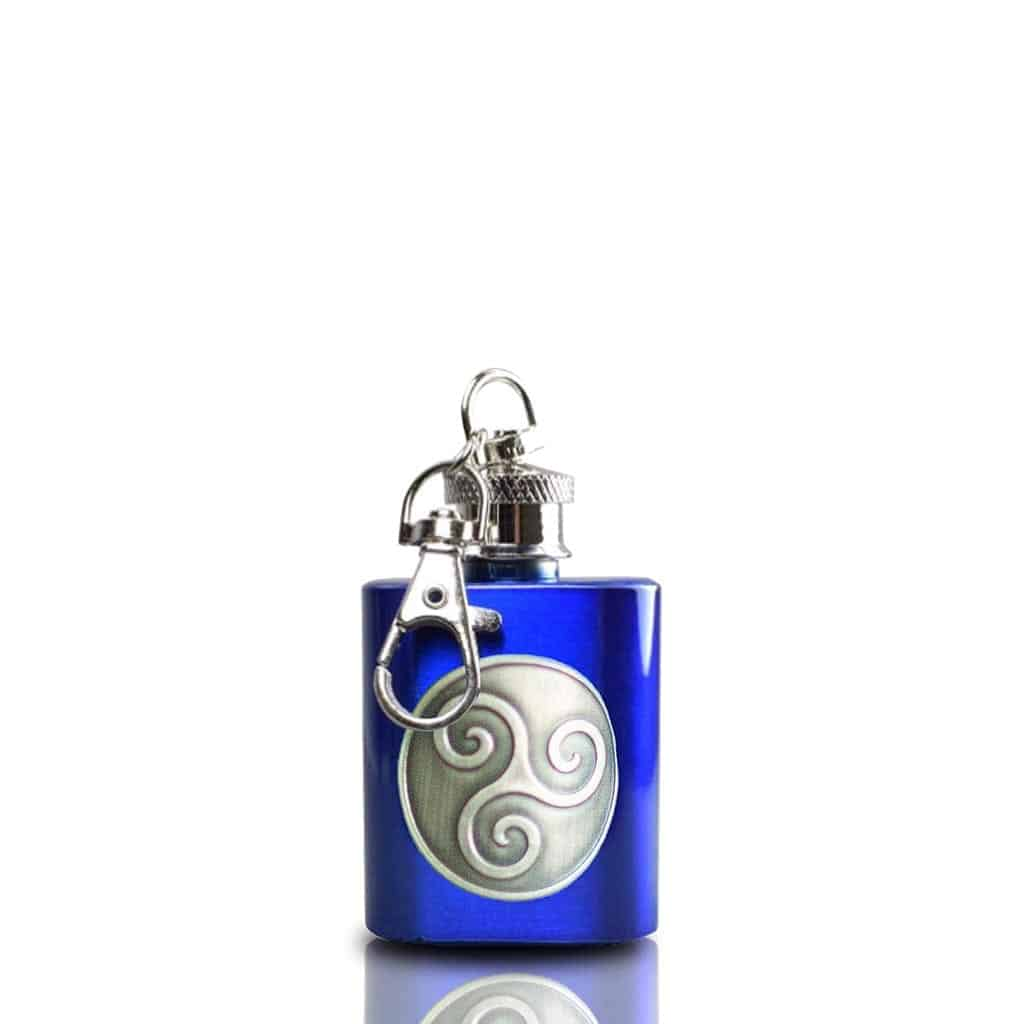 Boadicea® Gin key ring hip flask, blue - Wild Knight® Distillery