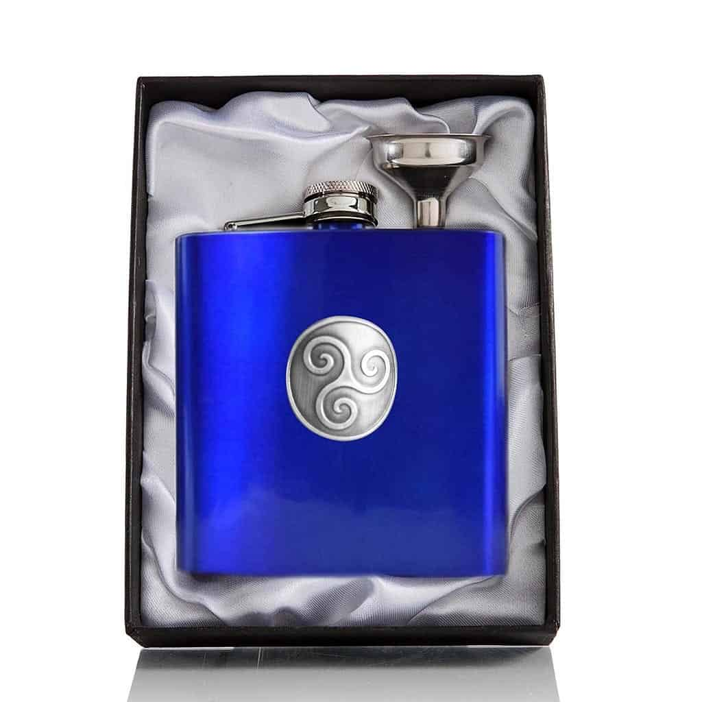 6oz Boadicea® Gin hip flask - blue