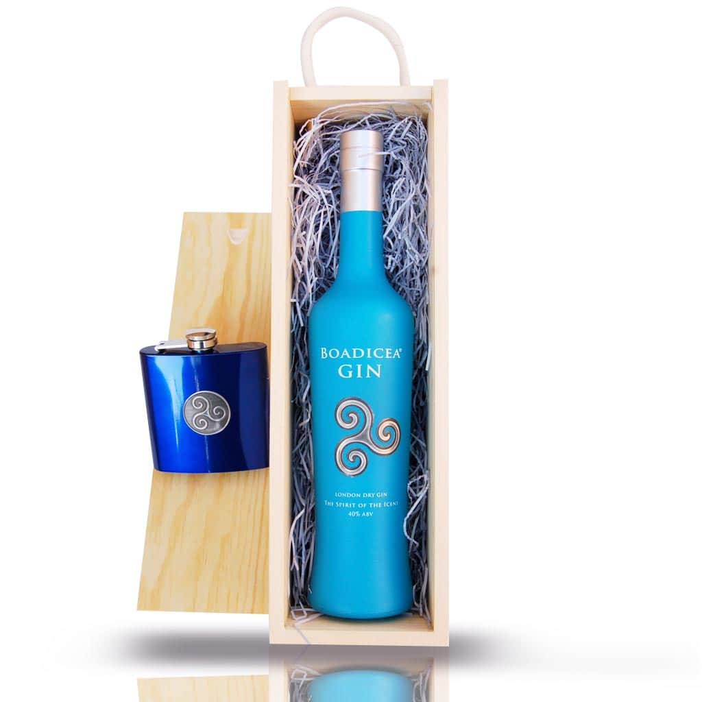 Gift Set: Boadicea® Gin 50cl and Hip Flask
