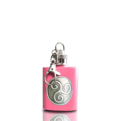 Boadicea® Gin key ring hip flask, pink