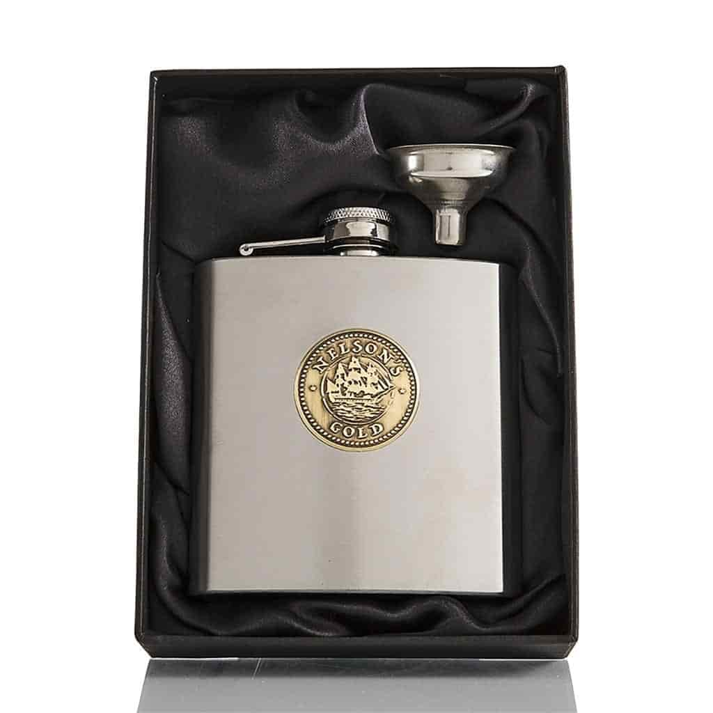 6oz Nelson's Gold® hip flask