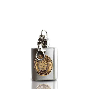 Nelson's Gold® key ring hip flask - Wild Knight® Distillery