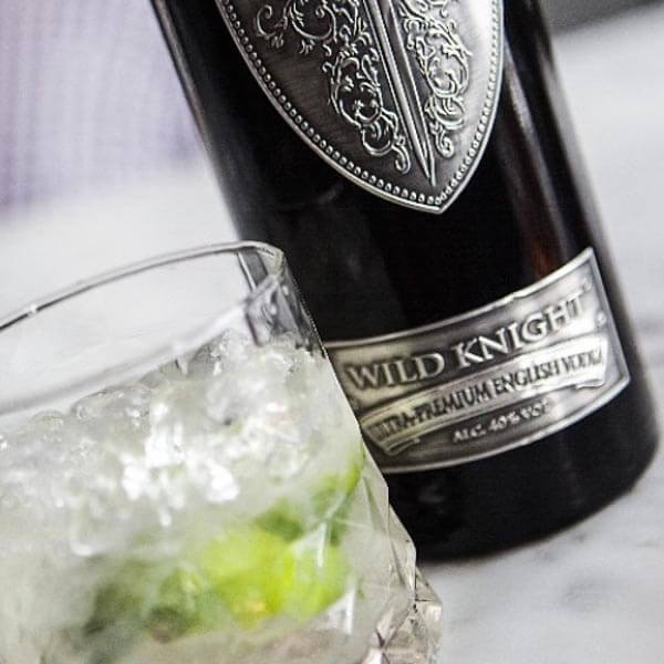 Wild Knight vodka over ice and with a squeeze of lime - delicious!