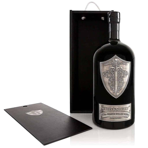 Wild Knight® English vodka, 4.5 litre Jeroboam, together with its black wooden box