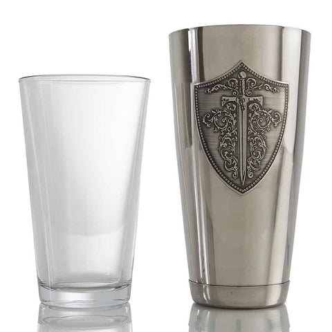 Wild Knight vodka professional Boston cocktail shaker