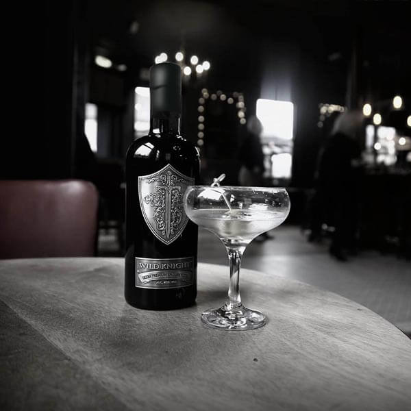 The classic Wild Knight vodka martini. Shaken or stirred - you decide.