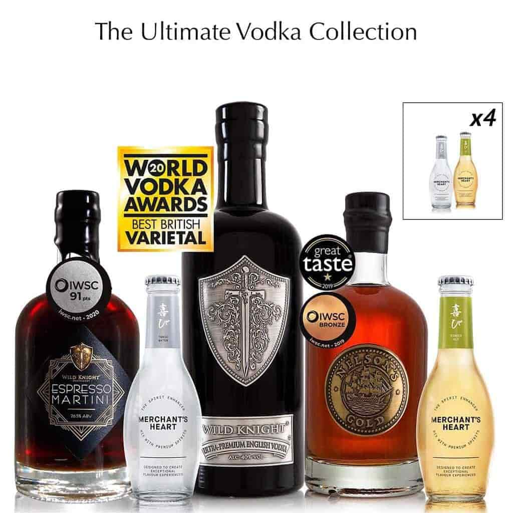 Wild Knight® Distillery Mixed Vodka Trio & Mixers Pairing Collection