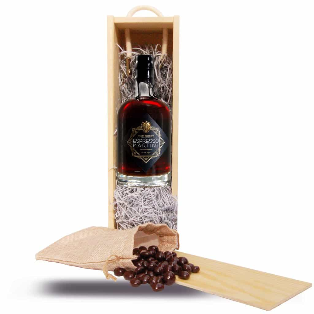 Wild Knight® Espresso Martini 50cl plus Dark Chocolate Covered Coffee Beans
