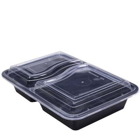 Black Base Microwavable 2 Compartment