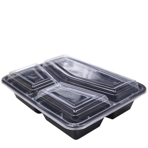 Black Base Microwavable 3 Compartment