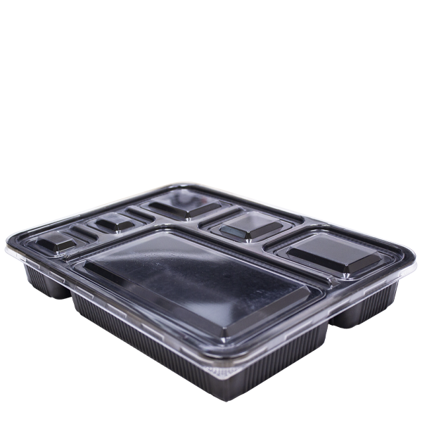 Black Base Microwavable 6 Compartment