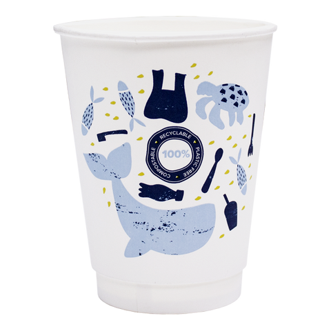 Dispo Double Wall Paper Cups Aqueous Double Wall Compostable