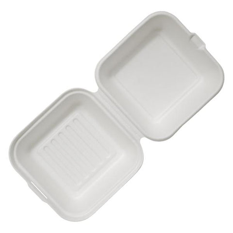 "Dispo Disposable Tableware 6"" / 500 Boxes Bagasse Burger Boxes"