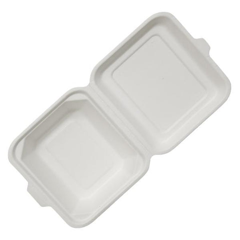 Dispo Disposable Tableware Bagasse Clamshell Meal Boxes