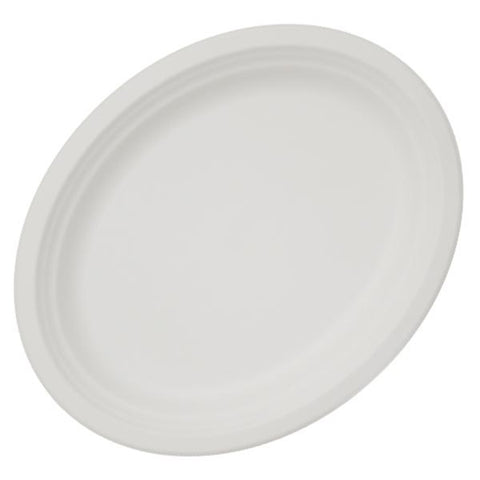 "Dispo Disposable Tableware 10"" x 12"" / 500 Plates Bagasse Oval Plates"