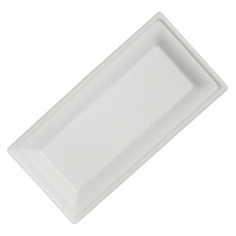 "Dispo Disposable Tableware 10"" x 5"" / 500 Plates Bagasse Rectangular Plates"
