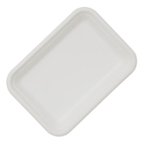 "Dispo Disposable Tableware 7"" / 1000 Trays Bagasse Chip Trays"