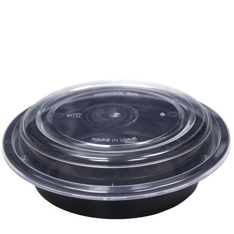 Black Base Microwavable Round