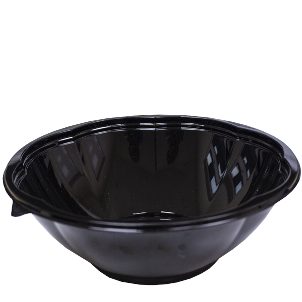 Black Base Flower Design Salad Bowls