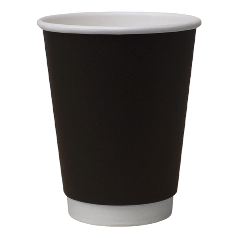 Paper Cups Direct Double Wall Paper Cups Black Double Wall